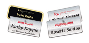 Keller Williams Name Badge Section