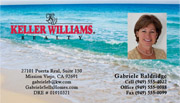 Keller Williams Business Card – horizontal - beach background image with agent photo - KW-1-BEACH