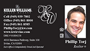 Keller Williams Business Card – horizontal - black design bussiness card - KW-1-BLACK-PHOTO