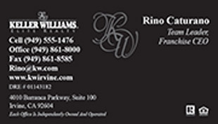 Keller Williams Business Card – horizontal - black bussiness card - KW-1-BLACK