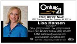 Century 21 Business Card - horizontal - Black and White - With Photo - C21-Black-10