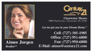 Century 21 Business Card - horizontal - Black with photo - C21-Black-3