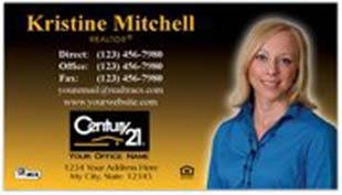 Century 21 Business Card - horizontal - Gradient with photo - C21-Color-1