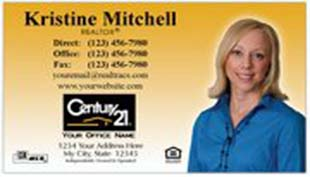 Century 21 Business Card - horizontal - Gradient with photo - C21-Color-2