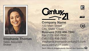 Century 21 Business Card - horizontal - landscape background with agnet photo - C21-Color-7