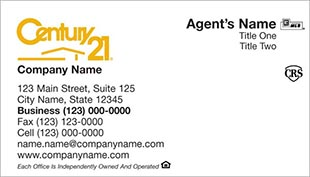 Century 21 Business Card - horizontal - white background - C21-white-13