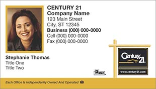 Century 21 Business Card - horizontal - White Background with agent photo - C21-white-16