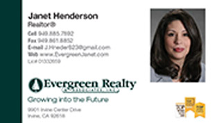 Evergreen Realty Business Card - horizontal - clean simple design with agent photo - EV-2-WHITE-PHOTO
