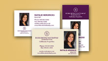 Berkshire Business Card Template Section