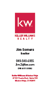 Keller Williams Business Card – Vertical - White - KW-10-White
