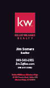 Keller Williams Business Card – Vertical - BLACK - KW-2-BLACK