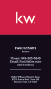 Keller Williams Business Card - Vertical - Red/Black - KW-3-Black