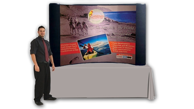 8ft tabletop popup display
