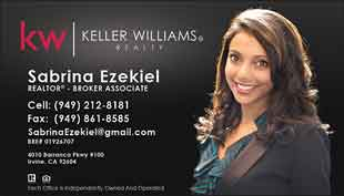 Keller Williams Business Card – Horizontal - Black - KW-13-Black-Photo