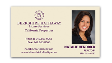 berkshire hathaway business cards - Horizontal - Business Card Template - V10-photo