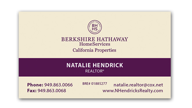 berkshire hathaway business cards - Horizontal - Business Card Template - V11