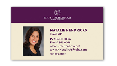 berkshire hathaway business cards - Horziontal - Business Card Template - V2-Photo