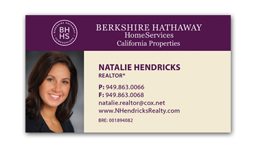 berkshire hathaway business cards - Horziontal - Business Card Template - V3-Photo
