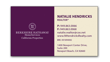berkshire hathaway business cards - Horizontal - Business Card Template - V5
