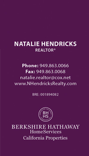 berkshire hathaway business cards - Vertical - Business Card Template - V6