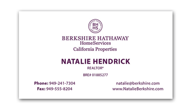 berkshire hathaway business cards - Horizontal - Business Card Template - V7