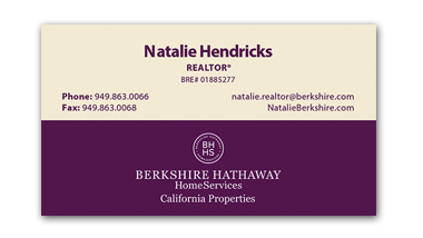 berkshire hathaway business cards - Horizontal - Business Card Template - V8