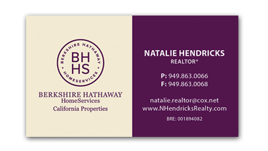berkshire hathaway business cards - Horizontal - Business Card Template - V9