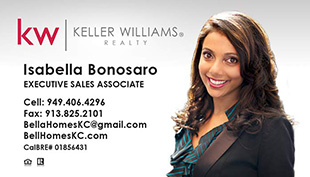 Keller Williams Business Cards – KW-13-WHT-PHOTO With New Logo