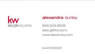 Keller Williams Business Card – Horizontal - White - kw-16-WHT - 2014 logo