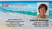 Keller Williams Business Cards – KW-21-Beach With New Logo