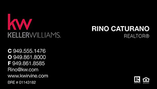 Keller Williams Business Cards – KW-21blk With New Logo