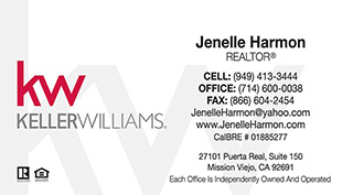 Keller Williams Business Cards – 21wht-A With New Logo
