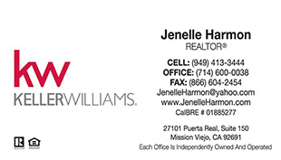 Keller Williams Business Cards – KW-21wht (White) With New Logo