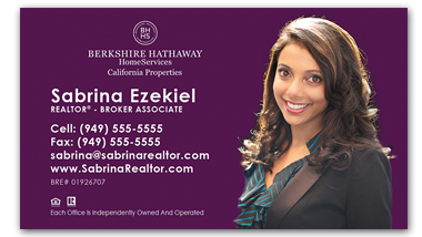 Berkshire Hathaway - Horziontal - Business Cards Template - V12-Photo