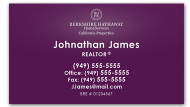 Berkshire Hathaway - Horziontal - Business Cards Template - V12
