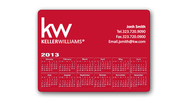Keller Williams - rectangular Calendar Magent - RED