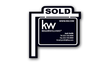 Keller Williams - Sign Post Magent with agent info - BLACK