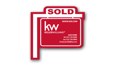 Keller Williams - Sign Post Magent with agent info - RED