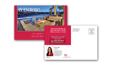 keller williams postcards mailer - in escrow - kw-mailer-00002